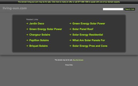 Screenshot of Home Page living-sun.com - Living-Sun.com - captured Aug. 31, 2015