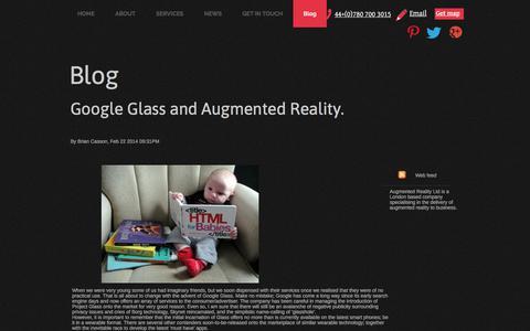 Screenshot of Blog augmentedrealityltd.co.uk - Blog - Augmented Reality Ltd - captured July 31, 2018