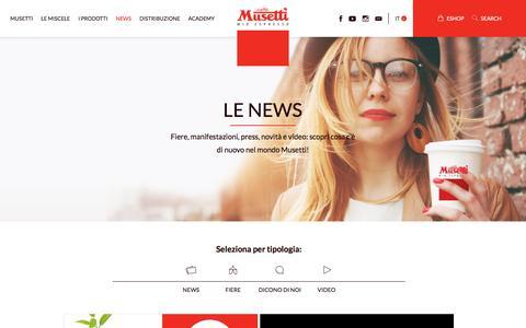 Screenshot of Press Page musetti.it - Le news – Caffè Musetti - captured Oct. 22, 2017