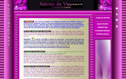 Screenshot of FAQ Page voyanceinternet.net - Voyance en direct sur Internet, Foire Aux Questions (FAQ). - captured March 18, 2016