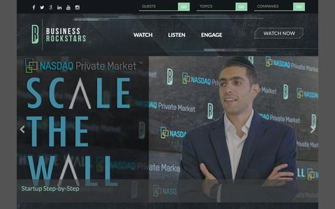Screenshot of Home Page businessrockstars.com - Business Rockstars - News and Information for Entrepreneurs - captured July 31, 2016