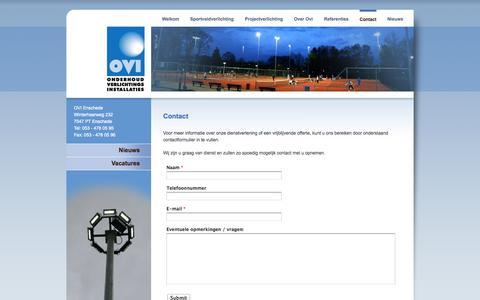 Screenshot of Contact Page ovi-enschede.nl - OVI Enschede - captured Sept. 30, 2014