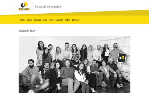 Screenshot of Team Page buzzoole.com - team  | Buzzoole | Be social, be valuable - captured Nov. 5, 2015