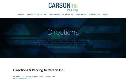 Screenshot of Maps & Directions Page carsoninc.com - Directions — Carson Inc - captured Feb. 15, 2016