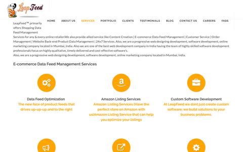 Screenshot of Services Page leapfeed.com - E-commerce Product Feed Management Services|product listing services - captured Dec. 14, 2018