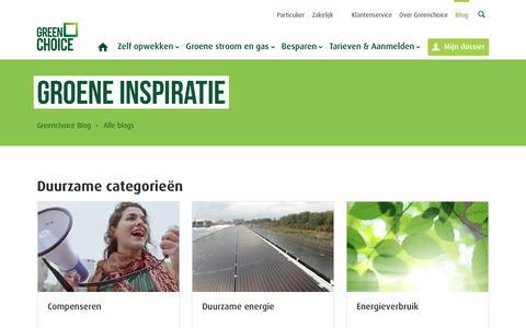 Screenshot of Blog greenchoice.nl - Greenchoice blog - captured July 16, 2019