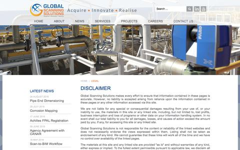 Screenshot of Terms Page globalscanningsolutions.com - Legal - Global Scanning Solutions - captured July 20, 2018