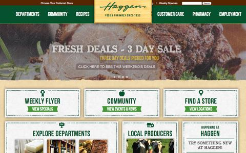 Screenshot of Home Page haggen.com - Haggen Food Grocery Store | Northwest Washington Grocery Stores - captured Nov. 17, 2015