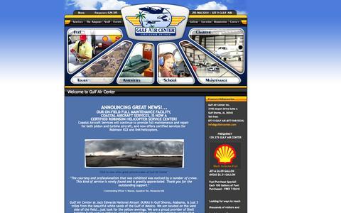 Screenshot of Home Page gulfaircenter.com - Gulf Air Center, Gulf Shores, Alabama - Jack Edwards Airport - KJKA - captured Oct. 3, 2014