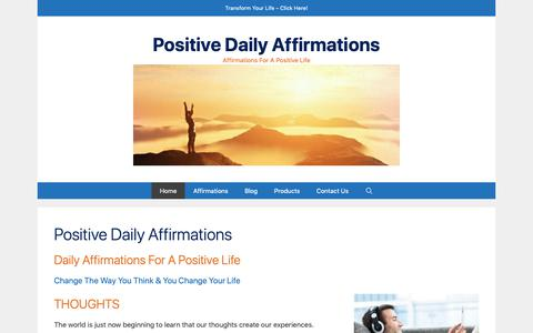 Screenshot of Home Page positivedailyaffirmations.com - Positive Daily Affirmations – Affirmations For A Positive Life - captured Sept. 29, 2018