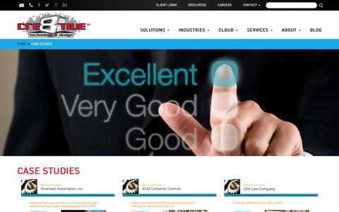 Screenshot of Case Studies Page ctnd.com - Case Studies - Cre8tive Technology & Design - captured Sept. 23, 2018