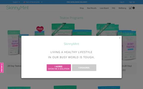 Screenshot of Products Page skinnymint.com - SkinnyMint - captured Sept. 26, 2015