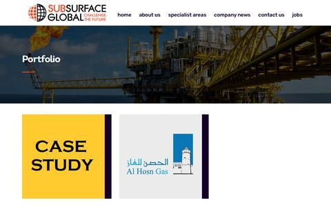 Screenshot of Case Studies Page subsurfaceglobal.com - Portfolio - Subsurface Global - captured Sept. 21, 2018