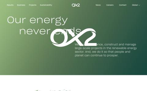 Screenshot of Home Page ox2.com - Wind power and other large-scale, sustainable energy solutions - captured June 6, 2019