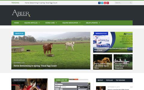 Screenshot of Blog abler.com - Abler Equine Pharmaceutical Blog - captured Sept. 11, 2015