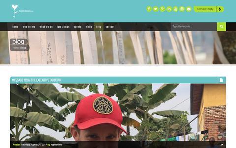 Screenshot of Blog hopeshines.org - blog - Hope Shines, Inc. - captured Sept. 3, 2017