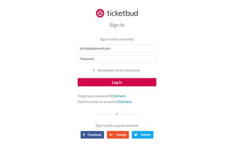Sign in to Ticketbud