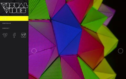 Screenshot of Home Page visualvibes.nl - Visual Vibes - Officiële website van Visual Vibes - captured Feb. 14, 2016