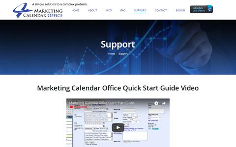 Screenshot of Support Page marketingcalendaroffice.com - Support – Marketing Calendar Office - captured July 26, 2018