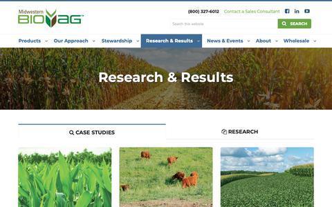 Screenshot of Case Studies Page midwesternbioag.com - Case Studies | Midwestern BioAg - captured Oct. 20, 2018