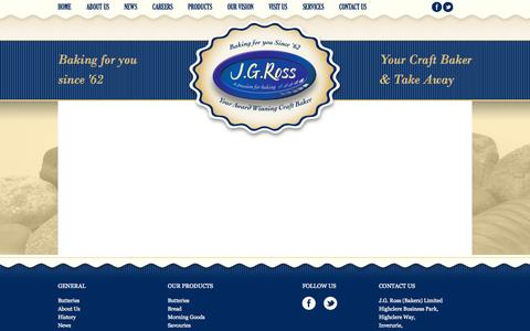 Screenshot of Services Page jg-ross.co.uk - Services - captured Oct. 3, 2014
