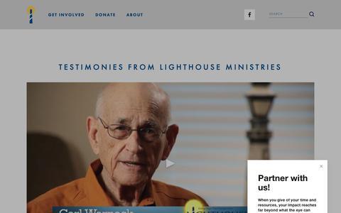Screenshot of Testimonials Page lighthousemin.org - Testimonials — Lighthouse Ministries - captured Nov. 10, 2018
