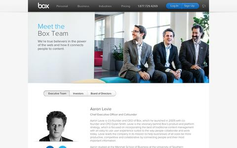 Screenshot of Team Page box.com - Reinventing Collaboration - Leadership | Box - captured Sept. 13, 2014