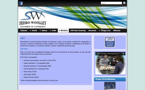 Screenshot of Signup Page sedro-woolley.com - Join - Sedro-Woolley Chamber of Commerce - captured Oct. 9, 2014