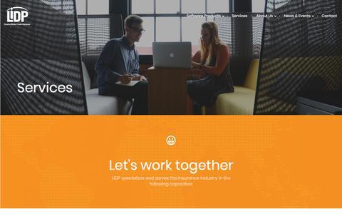 Screenshot of Services Page lidp.com - Services – LIDP - captured Sept. 25, 2018