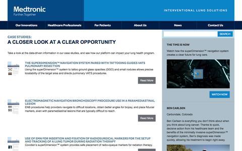Screenshot of Case Studies Page superdimension.com - Case Studies Archive | Medtronic PLC Medtronic PLC - captured Dec. 6, 2016