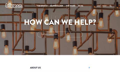 Screenshot of FAQ Page blippar.com - FAQs - Blippar - captured Oct. 22, 2018