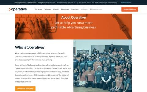 Screenshot of About Page operative.com - Company - Operative - captured June 17, 2015
