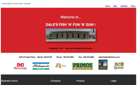 Screenshot of Home Page About Page Privacy Page Terms Page dalesfishnfun.com - Dale's Fish 'N' Fun 'N' Gun - Wholesale and Retail Sporting Goods - captured April 27, 2017
