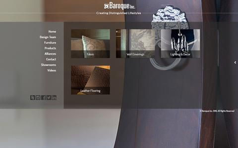 Screenshot of Products Page baroqueinc.ca - Products | baroque - captured Dec. 30, 2015