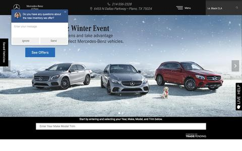 Screenshot of Home Page mbplano.com - Mercedes-Benz of Plano | Luxury Auto Dealership near Frisco - captured Nov. 15, 2018