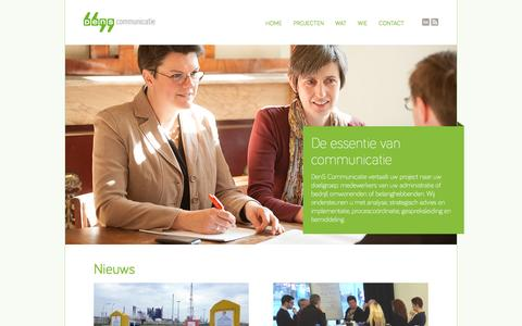 Screenshot of Home Page Menu Page denscommunicatie.be - Dens Communicatie - De essentie van communicatie - captured Feb. 9, 2016