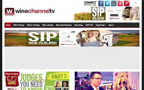 Screenshot of Home Page winechanneltv.tv - Wine Channel TV - #1 Online Wine Guide - captured Sept. 22, 2014