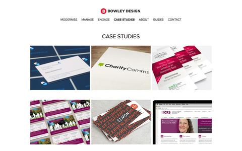 Screenshot of Case Studies Page bowleydesign.com - Case studies - Bowley Design - captured Jan. 7, 2016