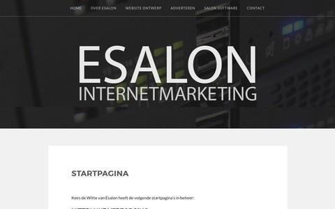 Startpagina – ESALON Internetmarketing
