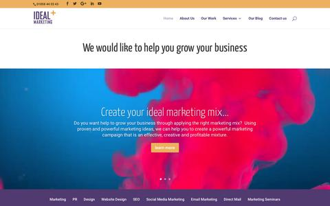 Screenshot of Home Page idealmarketingcompany.co.uk - Marketing and PR Company Leicestershire, Northamptonshire - captured Oct. 22, 2017