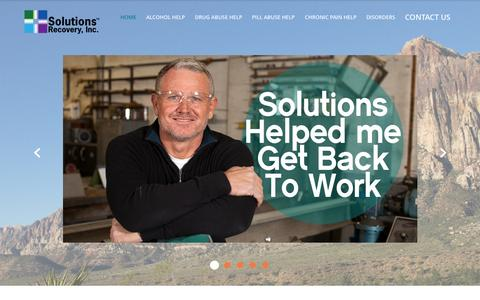 Screenshot of Home Page solutions-recovery.com - Las Vegas Alcohol and Drug Rehab | Solutions Recovery - captured Oct. 7, 2014