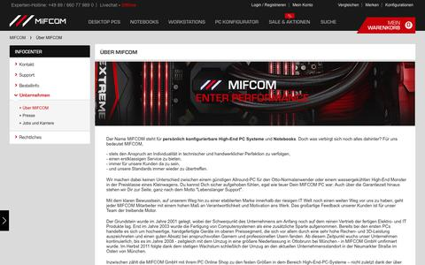 Screenshot of About Page mifcom.de - Über MIFCOM - captured June 24, 2017