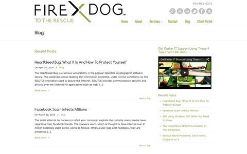 Screenshot of Blog firedogit.com - Blog «  FIRE DOG LLC | Atlanta Managed IT Services - captured Oct. 5, 2014