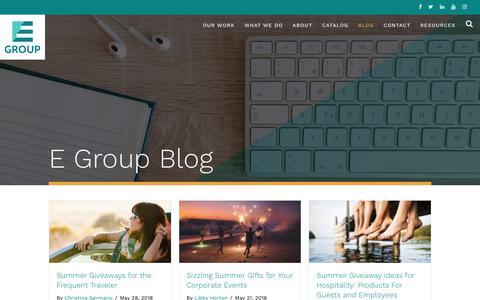 Screenshot of Blog egroupengage.com - Blog   E Group - captured June 2, 2018
