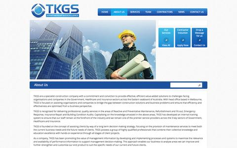 Screenshot of About Page tkgs.com.au - About Us | TKGS - captured Oct. 9, 2014