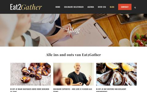 Screenshot of Blog eat2gather.nl - Eat2Gather     Blog - captured Nov. 11, 2018