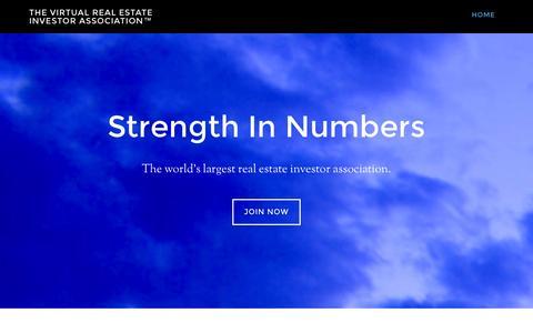 Screenshot of Home Page vreia.org - The Virtual Real Estate Investor Association™ – - captured Oct. 7, 2014