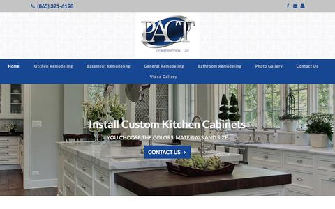 Screenshot of Home Page pact-construction.com - Pact Construction: Kodak, TN: Bathroom, Kitchen & Basement Remodeling - captured Feb. 16, 2018