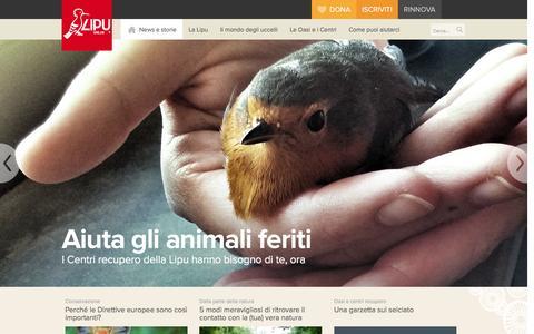Screenshot of Home Page lipu.it - Lipu, Lega italiana protezione uccelli - Lipu Onlus - captured Nov. 21, 2015