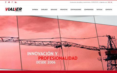 Screenshot of Home Page vialser.com - Vialser - Construcción, obra civil y mantenimiento - captured Feb. 14, 2016